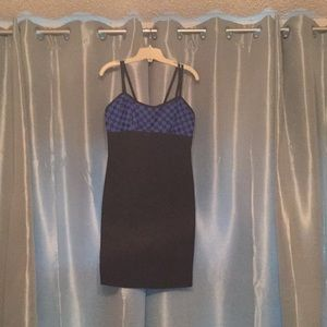 Little black and blue dress